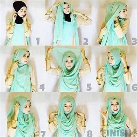 gambar tutorial hijab paris remaja tutorial cara memakai hijab modern paris paling praktis