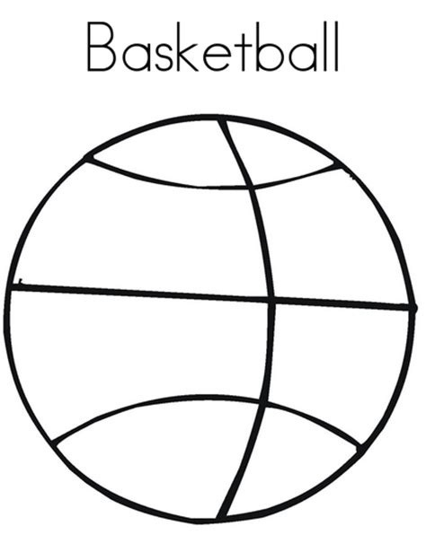 free printable coloring sheet of basketball sport for kids printable basketball pictures cliparts co