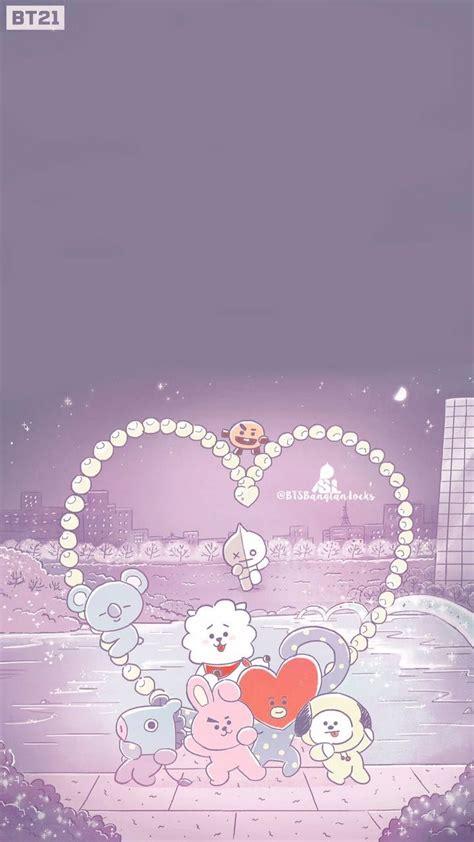bt lockscreen cute wallpapers bts chibi kpop wallpaper