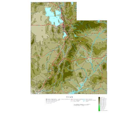 map of utah detailed road map of the state of utah maps of utah state collection of detailed maps of utah