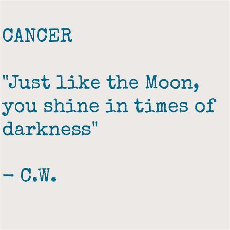 cancer sign quotes quotesgram