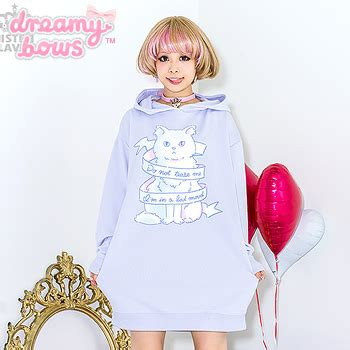 Dress Ribbon Cat buy listen flavor do not me ribbon cat hoodie dress lavender at dreamy bows