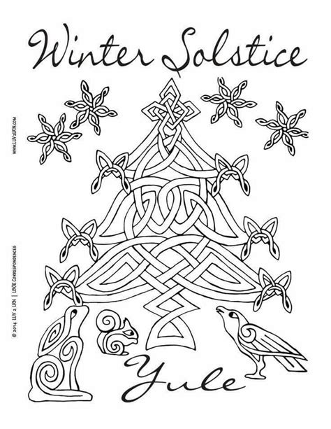 Winter Solstice Coloring Pages 17 Best Images About Pagan Coloring Pages On