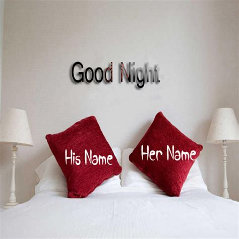 write your name on good night bed with thought picture