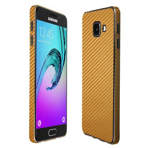 Samsung A3 Gold Skinomi Techskin Samsung Galaxy A3 2016 Gold Carbon