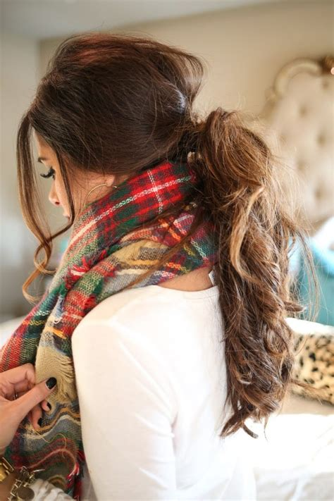 fall hairstyle messy  ponytail