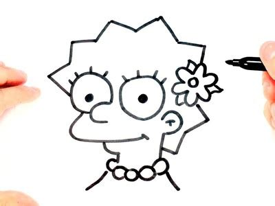 como dibujar a lisa simpson paso a paso how to draw lisa como hacer los flecos para chal tejido a crochet