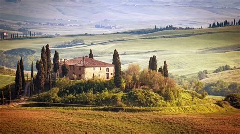 tuscany italy nature landscape house wallpapers hd