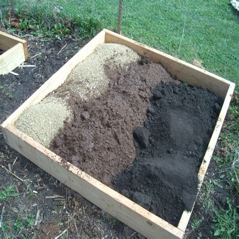 Square Foot Vegetable Gardening Using Timber Raised Beds What To Add To Vegetable Garden Soil