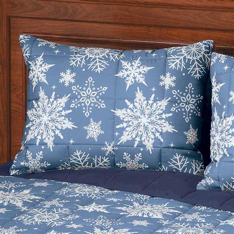reversible snowflake microfiber comforter comforter set