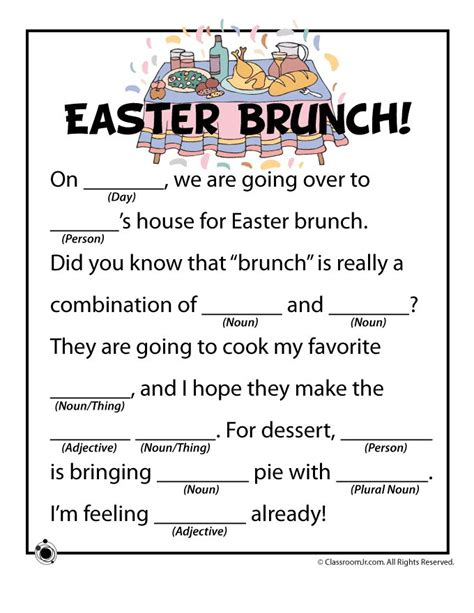 free valentines mad lib activity easter mad lib sheet activities children s dept