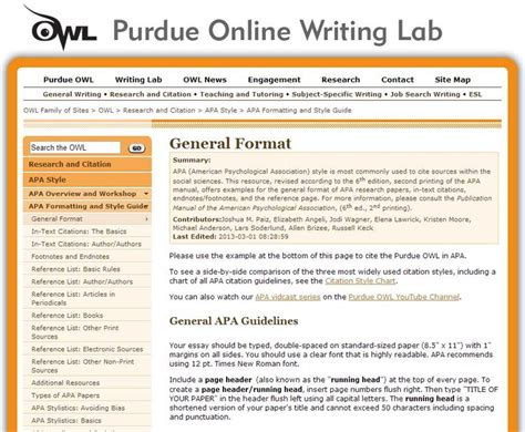 purdue owl apa format template apa formatting and style guide from owl at perdue