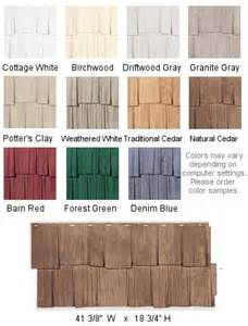 Vinyl Cedar Shake Siding Colors Hand Split Shake Vinyl Siding Shipped From Exteria To