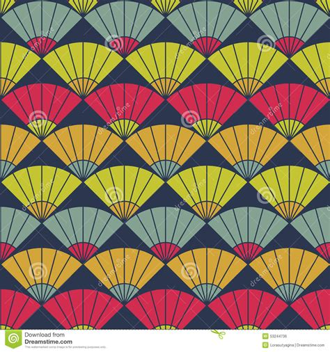 pattern based bright fan pattern based on traditional japanese