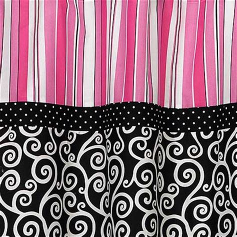Pink And Black Shower Curtain by Pink Black White Modern Scroll Fabric Shower