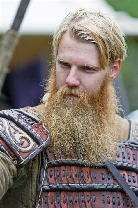who is short blonde viking on vikings huge thick full blonde viking beard and mustache beards
