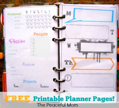 free printable mom planner pages 5 best images of free printable mom daily organizer free
