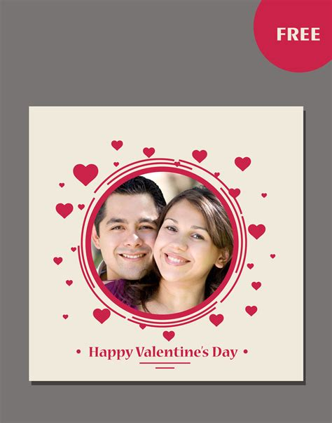 valintines day card template psd day psd templates