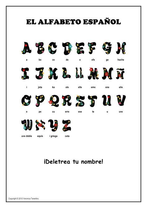 el abecedario el alfabeto espa 241 ol
