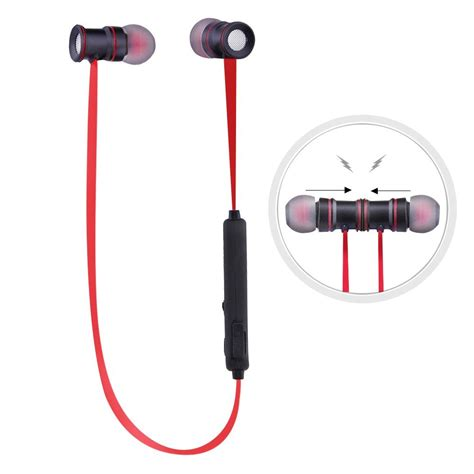 Earphone Headset Tomkas Magnet Iphone Android Bluetooth Headphones Wireless Stereo Bluetooth Headset