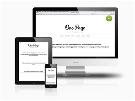 one page joomla templates one page responsive joomla scrolling template