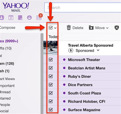 how to delete yahoo email how to delete all the inbox yahoo mail messages without