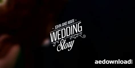 Wedding Album Title by Wedding Titles Vol 3 After Effects Template Motion