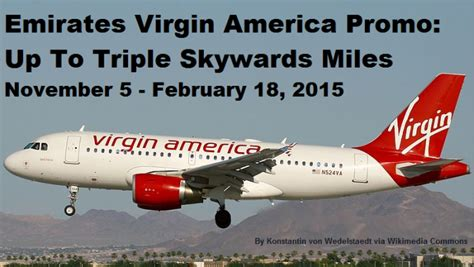 emirates earn miles emirates virgin america offer earn up to triple skywards