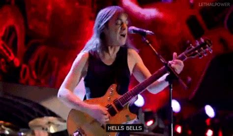 Rock Hell S Kitchen by Ac Dc Hells Bells Live At River Plate Rock And Roll Gifs