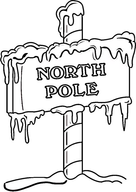 Xmas Coloring Pages The Pole Coloring Pages