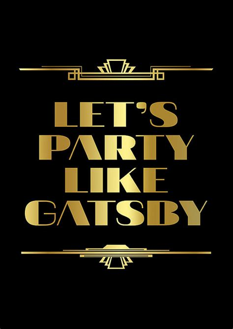 themes in great gatsby with quotes the great gatsby poster roaring 20s decor great by