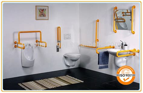 Toilet Grab Bars Free Standing Free Standing Angled Safety Bathroom Handrail View