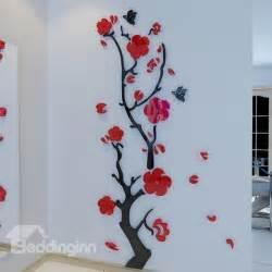 3d Wall Stickers Online Stunning Plum Flower And Butterfly Pattern 3d Wall