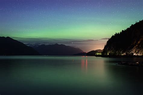 can you see the northern lights in vancouver canada vancouver northern lights at porteau cove