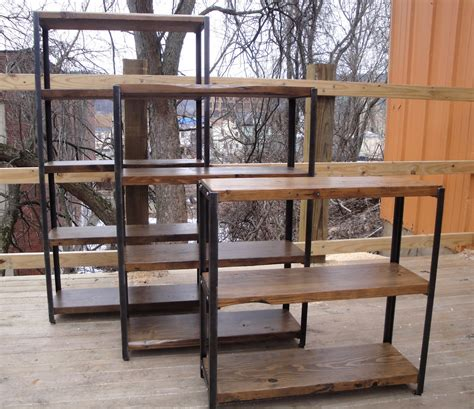 black wrought iron bookcase wrought iron shelf and reclaimed wood bookcase doherty house