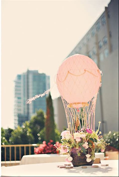 hot air balloon wedding centerpiece wedding event