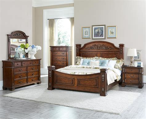 Homelegance Bedroom Set by Homelegance Donata Falls Bedroom Set Warm Brown 1800 Bed