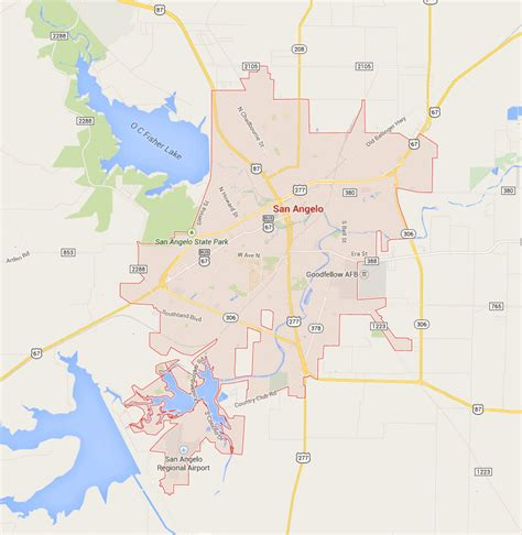 texas map san angelo san angelo real estate market