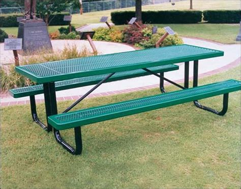 steel picnic table coated metal tables