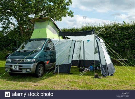 mazda bongo awnings a mazda bongo cervan with side awning on a c site