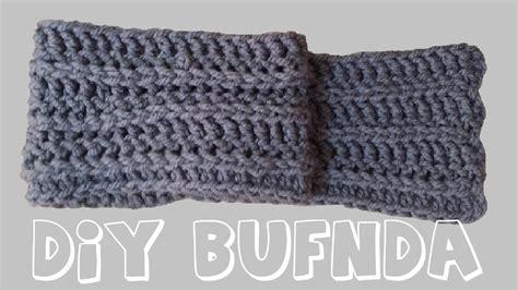 como hacer bufandas tejidas en gancho bufanda de lana tejida en crochet o ganchillo paso a paso