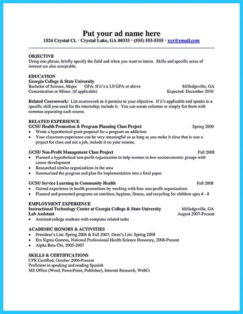 Resume For Minors by Resume Education Section Major And Minor