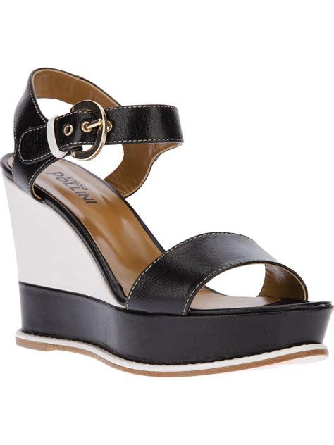 black platform wedge sandal studio pollini platform wedge sandals in black lyst