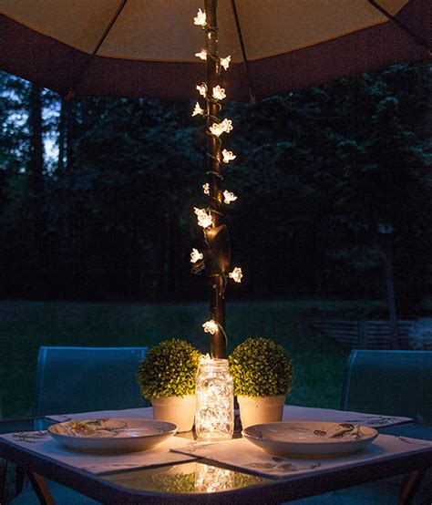 patio umbrella light patio string lights and bulbs