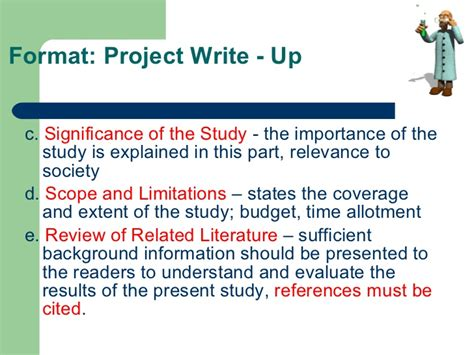 how to write scope and limitation in the research paper investigatory project parts