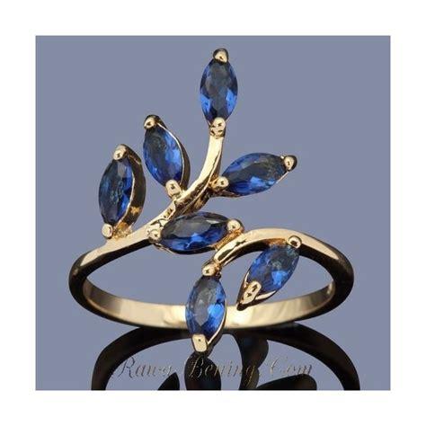 Cincin Daun Padi Mutiara Tawar cincin fashion model ranting daun gold filled sapphire cz