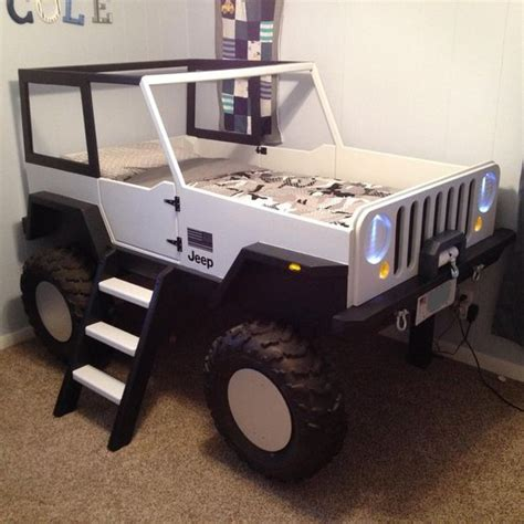 kids jeep bed jeep bed plans twin size car bed pinterest car bed