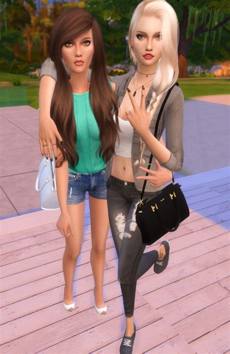 most liked sims 4 updates best friends pose by dreacia at my fabulous sims 187 sims 4