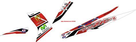 Dekal Stiker Klx 150 D A1 073 Striping Stiker Motor Yamaha Zr Moviestar