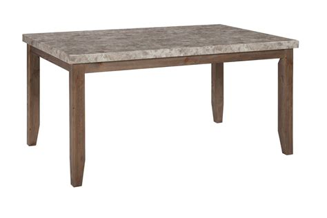 narvilla rectangular dining room table in two tone by